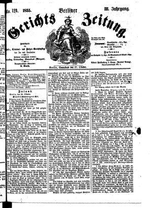 Berliner Gerichts-Zeitung vom 27.10.1855