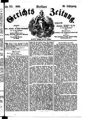 Berliner Gerichts-Zeitung vom 29.10.1855
