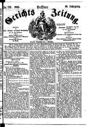 Berliner Gerichts-Zeitung vom 01.11.1855