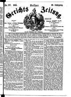 Berliner Gerichts-Zeitung vom 03.11.1855