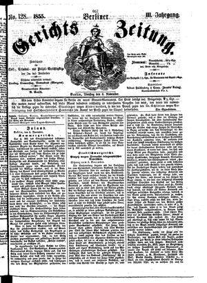 Berliner Gerichts-Zeitung on Nov 6, 1855