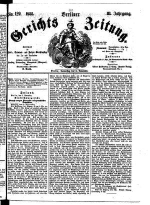 Berliner Gerichts-Zeitung vom 08.11.1855