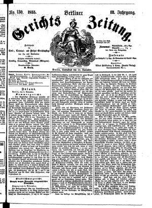 Berliner Gerichts-Zeitung vom 10.11.1855