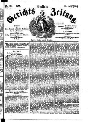 Berliner Gerichts-Zeitung vom 13.11.1855