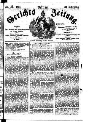 Berliner Gerichts-Zeitung vom 15.11.1855