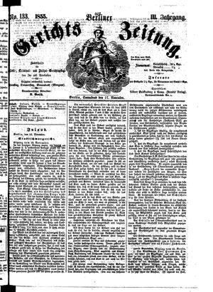 Berliner Gerichts-Zeitung vom 17.11.1855