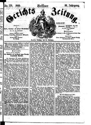 Berliner Gerichts-Zeitung vom 20.11.1855