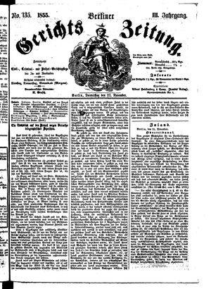 Berliner Gerichts-Zeitung vom 22.11.1855