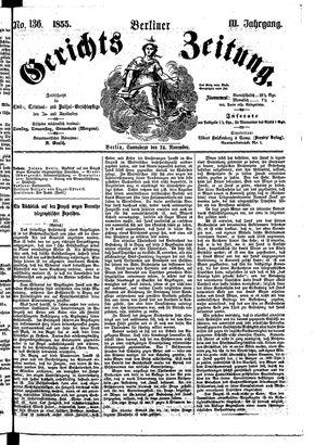Berliner Gerichts-Zeitung vom 24.11.1855