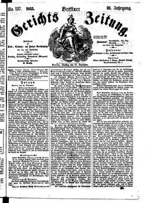 Berliner Gerichts-Zeitung vom 27.11.1855