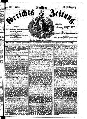 Berliner Gerichts-Zeitung vom 01.12.1855