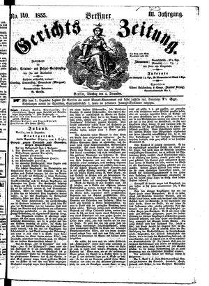 Berliner Gerichts-Zeitung on Dec 4, 1855