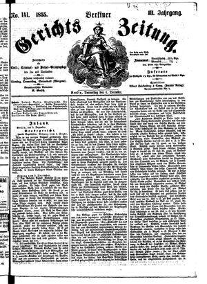 Berliner Gerichts-Zeitung vom 06.12.1855