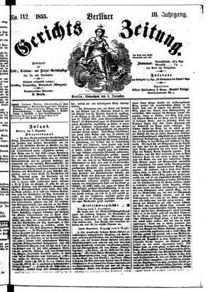 Berliner Gerichts-Zeitung vom 08.12.1855