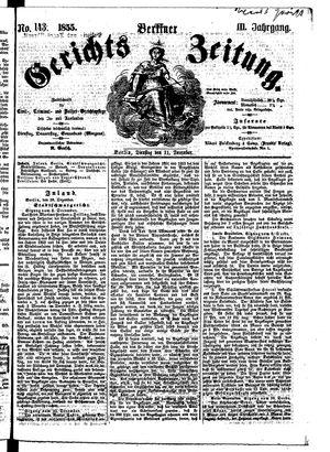 Berliner Gerichts-Zeitung vom 11.12.1855