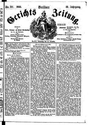 Berliner Gerichts-Zeitung vom 13.12.1855