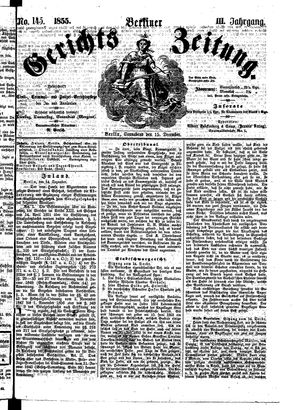 Berliner Gerichts-Zeitung vom 15.12.1855