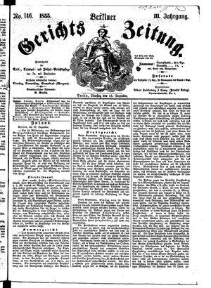 Berliner Gerichts-Zeitung vom 18.12.1855