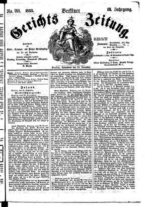 Berliner Gerichts-Zeitung vom 22.12.1855
