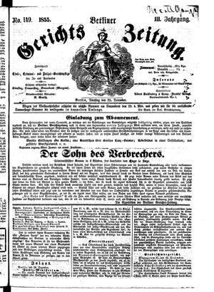 Berliner Gerichts-Zeitung vom 25.12.1855