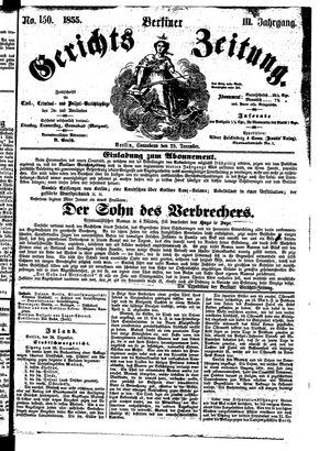 Berliner Gerichts-Zeitung on Dec 29, 1855