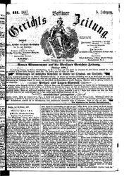 Berliner Gerichts-Zeitung (22.09.1857)