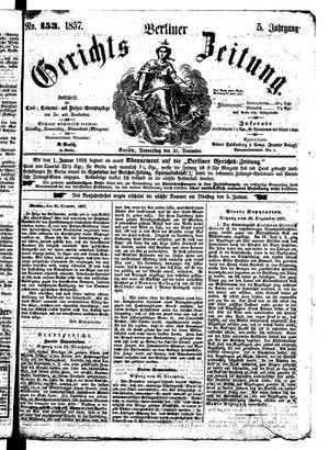 Berliner Gerichts-Zeitung vom 31.12.1857
