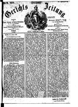 Berliner Gerichts-Zeitung vom 05.01.1858