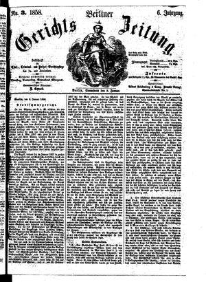 Berliner Gerichts-Zeitung vom 09.01.1858