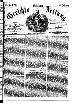 Berliner Gerichts-Zeitung vom 12.01.1858