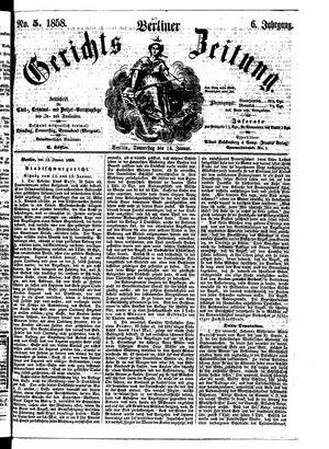 Berliner Gerichts-Zeitung vom 14.01.1858