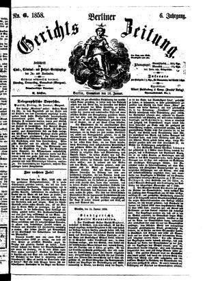 Berliner Gerichts-Zeitung vom 16.01.1858