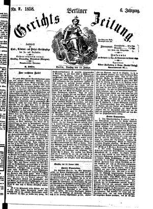 Berliner Gerichts-Zeitung vom 19.01.1858