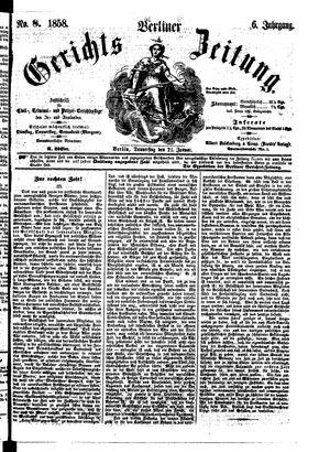 Berliner Gerichts-Zeitung vom 21.01.1858