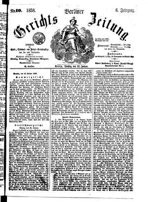 Berliner Gerichts-Zeitung vom 26.01.1858