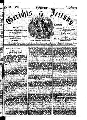 Berliner Gerichts-Zeitung vom 30.01.1858