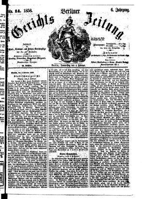 Berliner Gerichts-Zeitung vom 04.02.1858