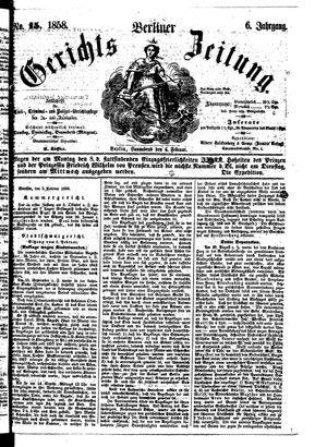 Berliner Gerichts-Zeitung vom 06.02.1858