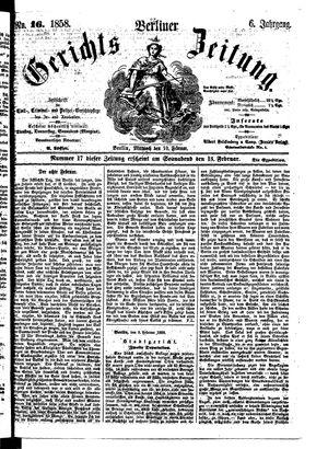 Berliner Gerichts-Zeitung vom 10.02.1858