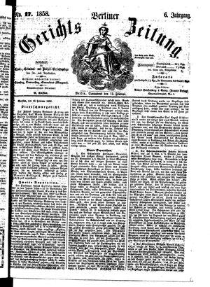Berliner Gerichts-Zeitung vom 13.02.1858