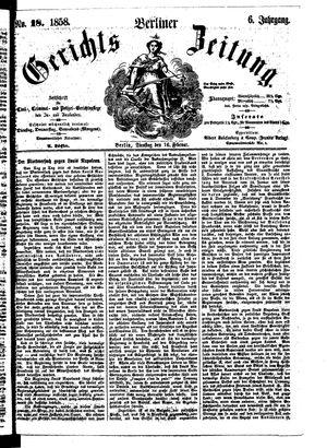 Berliner Gerichts-Zeitung vom 16.02.1858
