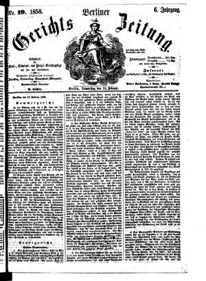 Berliner Gerichts-Zeitung vom 18.02.1858