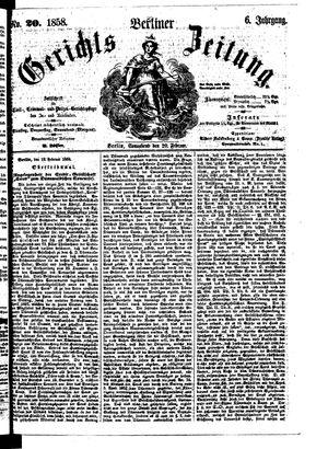 Berliner Gerichts-Zeitung vom 20.02.1858