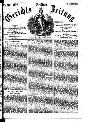Berliner Gerichts-Zeitung vom 25.02.1858