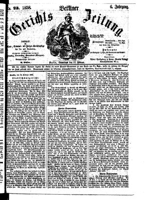 Berliner Gerichts-Zeitung vom 27.02.1858