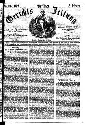 Berliner Gerichts-Zeitung vom 02.03.1858