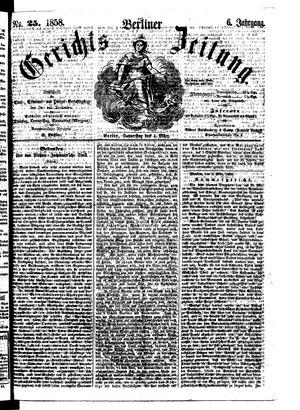 Berliner Gerichts-Zeitung vom 04.03.1858