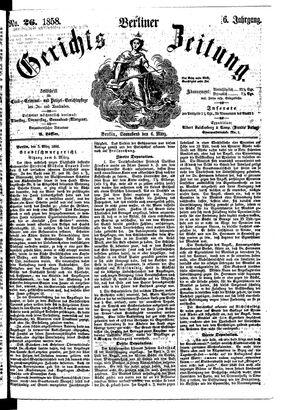 Berliner Gerichts-Zeitung vom 06.03.1858