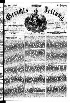Berliner Gerichts-Zeitung vom 11.03.1858