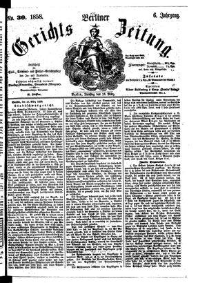 Berliner Gerichts-Zeitung vom 16.03.1858